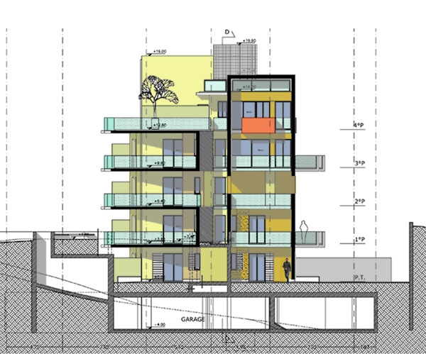 Residential Building with 38 Apartments - Rome (Italy)